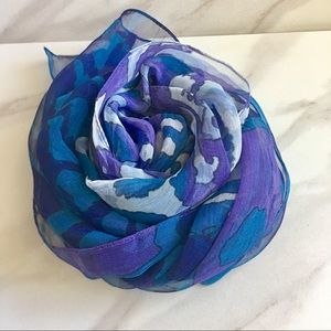 CEJON Purple and Blue Sheer Wrap Scarf Shaw